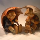 Vintage Hummel Goebel Germany Umbrella Boy and Umbrella Girl Collectible Set