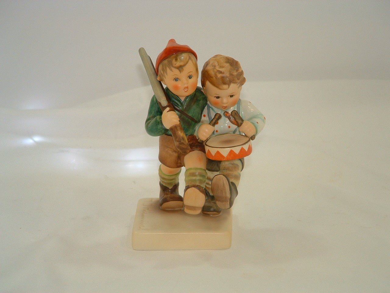 Hummel Goebel Germany Crossroads Figurine with American & German Flags