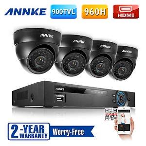 Home Security System Surveillance Kits w/ 4 Cameras (#1000000006)