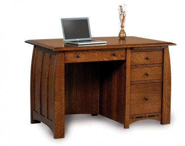 Amish Computer Writing Desk Solid Oak Maple Wood Office Furniture File Storage