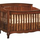 Amish Baby Crib Solid Wood Nursery Furniture Conversion Toddler Bed French