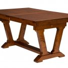 Amish Farmhouse Trestle Dining Table Rectangle Solid Wood Rustic Furniture New