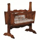 Amish Baby Furniture Cradle Infant Bassinet Traditional Solid Wood Nursery