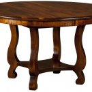 Amish Farmhouse Round Classic Dining Table Country Solid Wood Extending Kitchen