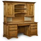 Amish Executive Computer Desk Hutch Home Office Solid Wood Furniture Traditional