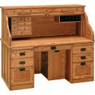 Amish Handcrafted Mission Roll Top Computer Desk Office Furniture Wood Writing