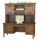 Amish Computer Executive Desk Pullout Shelf Solid Wood Home Office Furniture CPU