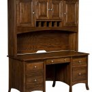 Amish Executive Computer Desk Hutch Home Office Solid Wood Furniture Casual