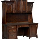 Amish Computer Desk Hutch Home Office Solid Wood Furniture Traditional
