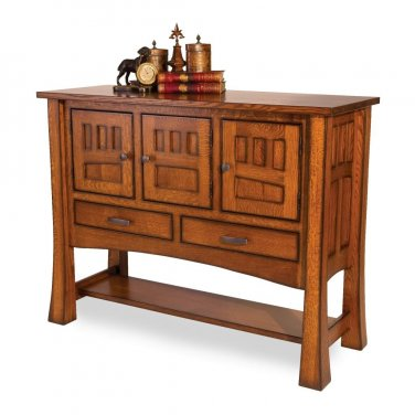 Amish Dining Room Sideboard Server Buffet Solid Wood Arts & Crafts Mission