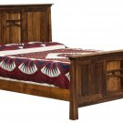 Amish Rustic Panel Artesa Mission Bed Wood Cabin Bedroom Furniture King Queen