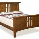 Amish Luxury Mission Bed Set Wood Kascade Bedroom Furniture King Queen Full
