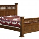 Amish Luxury Mission Bed Set Solid Wood Post Bedroom Furniture King Queen Full