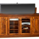 "Amish 60"" TV Stand Lift Console Cabinet Flat Plasma LCD Media Wood Furniture"