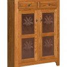 Amish Kitchen Pie Safe Jelly Cupboard Storage Cabinet Furniture Metal Copper Tin