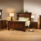Luxury Amish Traditional Bedroom Set Solid Wood Queen King Oak Maple Cherry