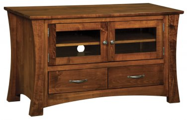 Amish Solid Wood Plasma TV Stand LCD Media Console DVD Maple Storage Cabinet New