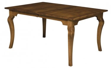 Amish Dining Table Rectangle Leg Country Cottage Rustic Solid Wood Furniture