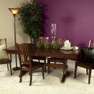 Amish Casual Trestle Dining Set Rectangle Table Chairs Country Rustic Solid Wood