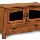 Large Modesto Amish Plasma TV Stand Wood LCD Console Media Cabinet Storage