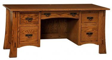Amish Mission Computer Desk Executive Writing Solid Wood Office Furniture File