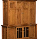 Amish TV Entertainment Center Solid Wood Media Hutch LCD Cabinet Storage New