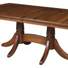 Amish Baytown Double Pedestal Dining Table Traditional Solid Wood Furniture