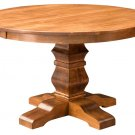 "Amish Round Pedestal Dining Table Solid Wood Rustic Expandable 48"",54""  New"