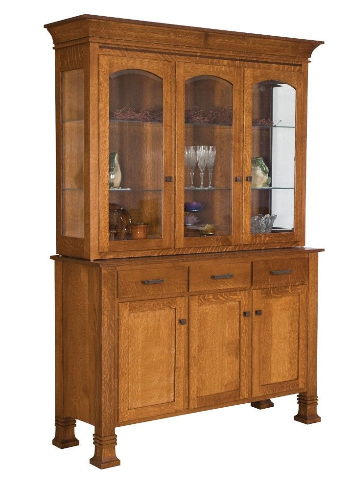 Amish Rustic Dining Room Sideboard Server Buffet Cambridge: Amish Hutch Dining Room Buffet Server China Cabinet