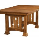 Unique Amish Mission Trestle Dining Table Solid Wood Oak Expanding Rectangle New