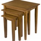 Amish Nesting Tables TV Trays Snack Wood Nested Nest Solid Wood Oak End New