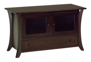 "Amish Modern Flat Screen TV Stand Cabinet Solid Wood Doors Drawer 49"",60"",72"""