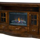 Amish Electric Fireplace Plasma TV Stand Media Cabinet  Solid Wood Storage