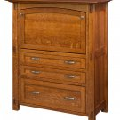 Amish Computer Secretary Desk Armoire Modesto Solid Wood Furniture Home Office
