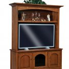 Amish TV Entertainment Center Solid Oak Wood Hutch Media LCD Cabinet Storage New