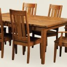 Amish Rustic Plank Expandable Rectangle Dining Set Table Chairs Solid Wood New