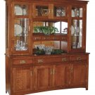 Amish Cape Cod Arts & Crafts Mission Hutch China Cabinet Solid Wood