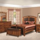5-Piece Amish Cascade Mission Raised Panel Bedroom Set Solid Wood Furniture Queen