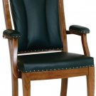 Amish Office Arm Chair Waiting Room Seats Solid Wood Leather