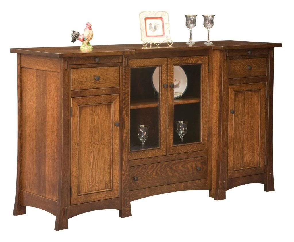 Amish Rustic Dining Room Sideboard Server Buffet Cambridge: Amish Aspen Mission Sideboard Buffet Server Dining Room