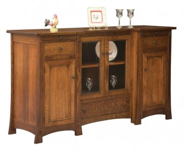 Amish Aspen Mission Sideboard Buffet Server Dining Room Furniture