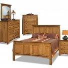 Luxury Amish Boulder Creek Bedroom Set Solid Wood Queen