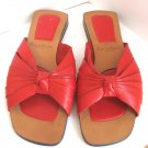 COLE HAAN RESORT Flat Open Toe Slide Sandal Red Strappy Slip On Size 7.5