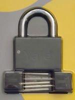 "X 2 SMART YALE PADLOCK  HIGH SECUTRITY 3/8""  GATE GARAGE SHUTTER SHED DOOR LOCK"
