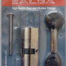 ALBA  DOOR LOCK CYLINDER  HIGH QUALITY 76MM EURO PROFILE  COG WHEEL  BEST PRICE