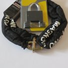 MOTORCYCLE CHAIN PADLOCK SET HIGH SECURITY LOCKSET ATV MOTORBIKE SCOOTER BICYCLE