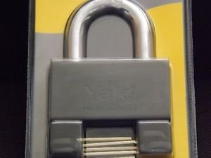 YALE  PADLOCK HIGH SECURITY  HEAVY DUTY XL STORAGE GATE GARAGE  MUL-T-LOCK STYLE