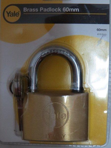 Yale padlock Quality lock gate latch hasp garage door 60mm shed locker outdoor