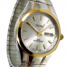 Pulsar Men's Watch Two Tone Expansion Bracelet PXN200