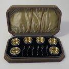 Vintage Sterling Silver Salt Cellars Case Included Set of 6